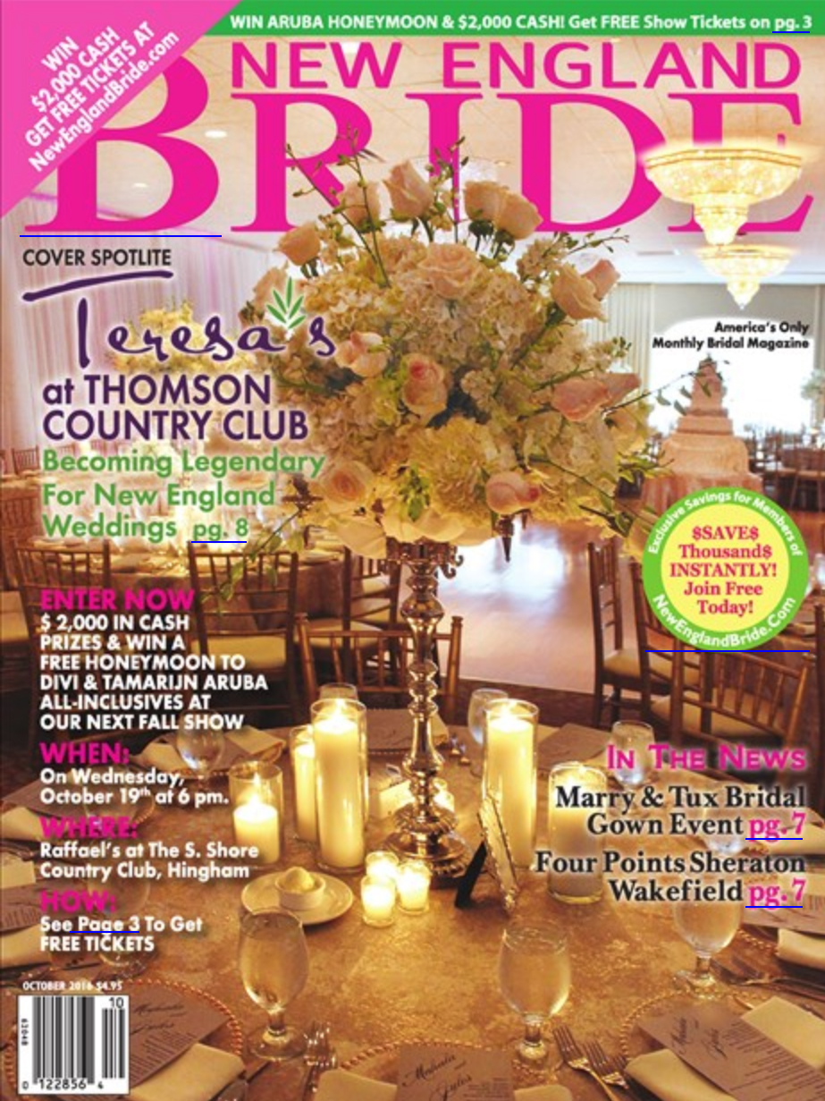 Teresa's on the cover of New England Bride!