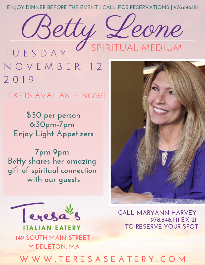 Betty Leonne 3rd Psychic Medium Event!
